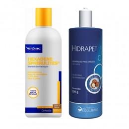Kit Shampoo Hexadene Spherulites 500ml + Hidrapet Creme 500g
