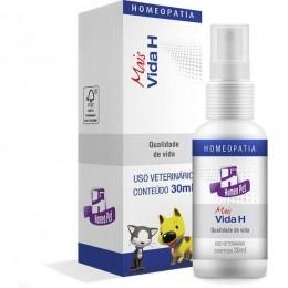 Mais Vida H 30ml Homeopet Real H Homeopatico Cães e Gatos Idosos