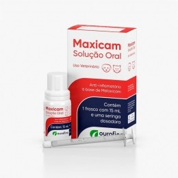 Maxicam Solução Oral 15ml Ourofino Para Cães e Gatos