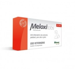 Meloxitabs Biovet 0,5mg Anti-Inflamatório Para Cães e Gatos 10comp.