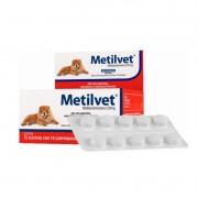 Metilvet 20mg Anti Inflamatório Vetnil 10 Comprimidos