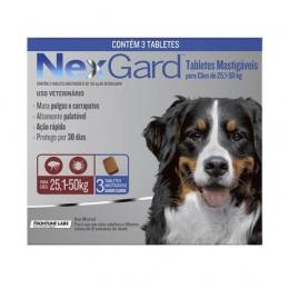 Nexgard Antipulgas e Carrapatos Cães de 25,1 a 50 Kg - 3 Tabletes