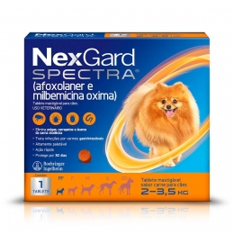 Nexgard Spectra Antipulgas e Carrapatos Cães de 2 a 3,5 Kg