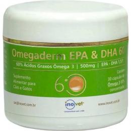 Omegaderm EPA & DHA 60% 500mg 30 Cápsulas Inovet