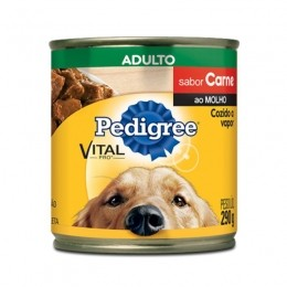 Pedigree Lata Adulto Carne ao Molho 290g Para Cães
