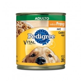 Pedigree Lata Adulto Frango Patê 280g Para Cães
