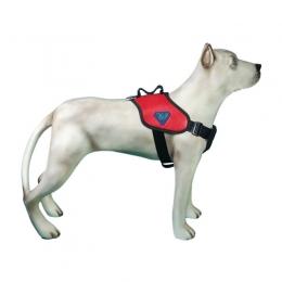 Peitoral Tático Extreme para Cães K9 Spirit Vermelho Tamanho G