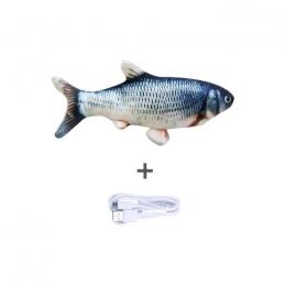 Peixe Elétrico Para Gatos Brinquedo + Usb