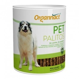 Pet Palitos Organnact Prebiótico Probiótico para Cães 1kg
