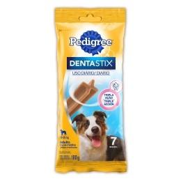 Petisco Pedigree Dentastix Cuidado Oral Cães Adultos Raças Médias - 7 Unidades