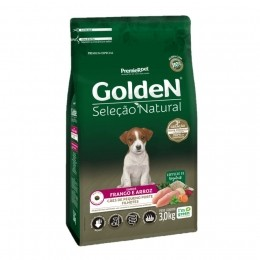 Ração Golden Seleção Natural Cães Pequeno Porte Filhotes Frango Arroz 3kg