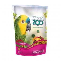 Ração Megazoo para Papagaios Frutas e Legumes - 600g