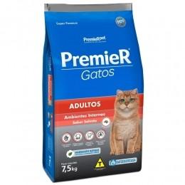 Ração Premier Gatos Adultos Ambientes Internos Salmão 7,5kg