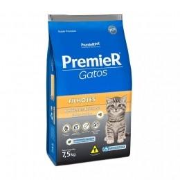 Ração Premier Gatos Filhotes Ambientes Internos Frango 7,5kg