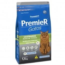 Ração Premier Para Gatos Castrados Acima 12 anos Frango 1,5Kg