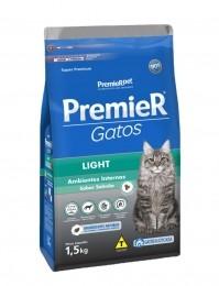 Ração Premier Para Gatos Light Salmão 1,5Kg