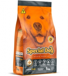 Ração Special Dog Premium Carne Plus para Cães Adultos - 1 Kg