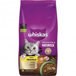 Ração Whiskas Melhor Por Natureza Frango Gatos Adultos - 2,7 Kg