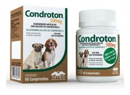 Regenerador Articular Para Cães Condroton 500mg 60 Compr