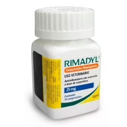 Rimadyl 25mg Anti-Inflamatório 14 Comprimidos