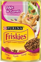 Sache Friskies Purina Adulto Mix de Carnes 85g Kit 15 Und.