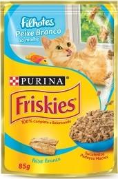 Sache Friskies Purina Filhotes Peixe Branco 85g Kit 15 Und.