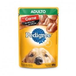 Sache Pedigree Adulto Carne ao Molho 100g Cães Kit 20 Und.