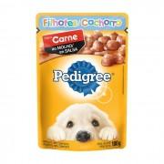 Sache Pedigree Filhotes Carne ao Molho 100g Cães Kit 18 Und.