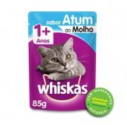 Sache Whiskas 1+ Adulto Atum ao Molho 85g Kit 20 Und.