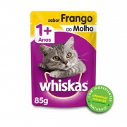 Sache Whiskas 1+ Adulto Frango ao Molho 85g Kit 20 Und
