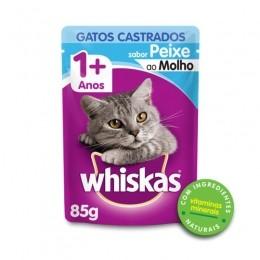 Sache Whiskas 1+ Adulto Gatos Castrados Peixe 85g Kit 20 Und.