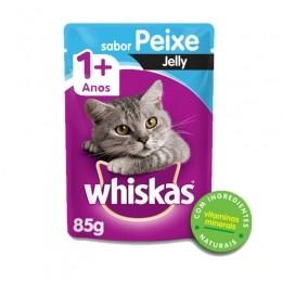 Sache Whiskas 1+ Adulto Peixe Jelly 85g Kit 20 Und.