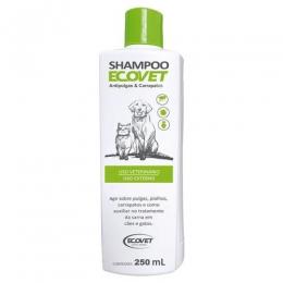Shampoo Ecovet Antipulgas e Carrapaticida 250ml