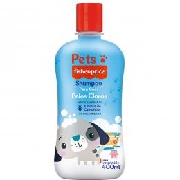 Shampoo Pets Fisher Price Para Cães de Pelos Claros - 400 Ml
