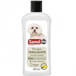 Shampoo Tonalizante de Pelos Claros 500ml Sanol Dog