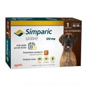 Simparic 120 Mg 1 Comp Para Cães Entre 40,1-60kg Zoetis
