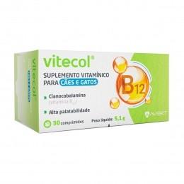 Suplemento Vitamínico Avert Vitecol para Cães e Gatos 30Comp