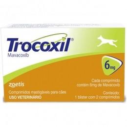 Trocoxil de 2 Comprimidos 6 mg Anti-inflamatório Zoetis