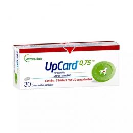 UpCard 0,75mg 30 Comprimidos Para Cães