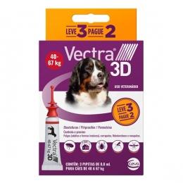 Vectra 3D Antipulgas Cães de 40 a 67 Kg - Combo Leve 3 Pague 2