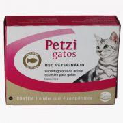 Vermifugo Ceva Petzi Para Gatos - 4 comprimidos