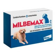Vermífugo Milbemax C para Cães de 5 a 25 Kg 2 Comprimidos