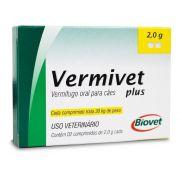 Vermífugo Vermivet Plus - Biovet 2g Com 2 Comprimidos