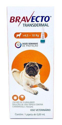 Antipulgas Bravecto Transdermal Cães 4,5 A 10kg