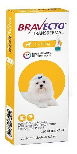 Antipulga Bravecto Transdermal Cães De 2 A 4,5kg