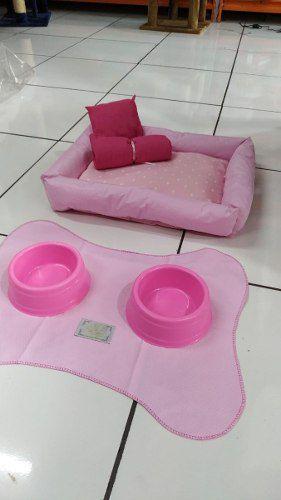 Caminha Kit Maternidade 6 Peças Para Cachorro - Tamanho 60x50 Rosa
