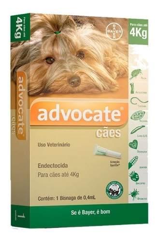 Antipulgas Bayer Advocate Cães Até 4 Kg