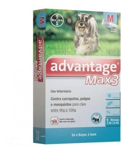 Advantage Max 3 M Cães De 4kg A 10kg - 1ml