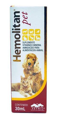 Hemolitan Pet Suplemento Vitamínico Mineral P/ Animais 30ml