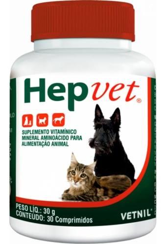 Hepvet Cães E Gatos 30 Comprimidos